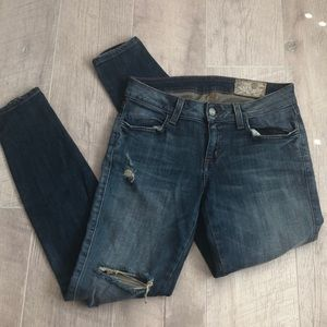 SIWY Hannah Skinny Jeans Size 24 Distressed